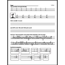 How to write cursive uppercase L workbook.