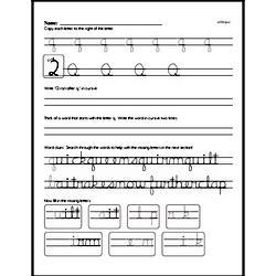 How to write cursive uppercase Q workbook.