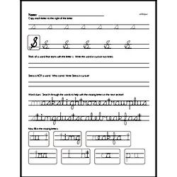 How to write cursive uppercase S workbook.