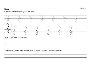 Cursive Worksheets for Fourth Graders