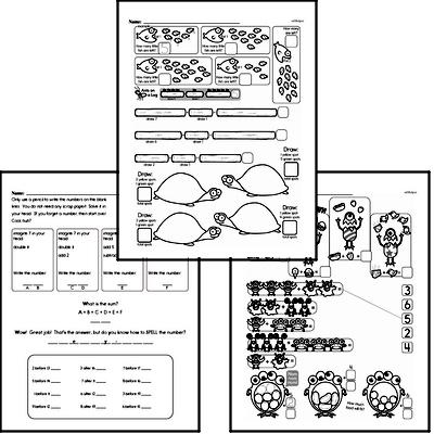 Addition - Addition within 10 Mixed Math PDF Workbook for First Graders