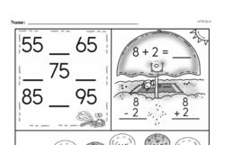 Free 1.OA.D.8 Common Core PDF Math Worksheets Worksheet #81