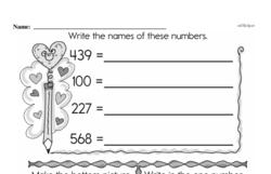 Free 1.OA.D.8 Common Core PDF Math Worksheets Worksheet #100