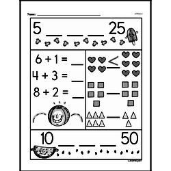Free 1.OA.D.8 Common Core PDF Math Worksheets Worksheet #71