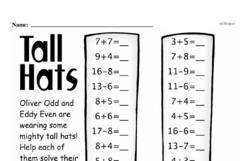 Free 1.OA.D.8 Common Core PDF Math Worksheets Worksheet #70