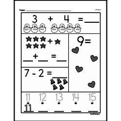 Free 1.OA.D.8 Common Core PDF Math Worksheets Worksheet #73
