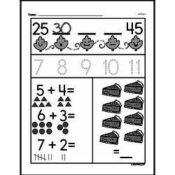 Free 1.OA.D.8 Common Core PDF Math Worksheets Worksheet #30