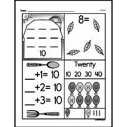 Free 1.OA.D.8 Common Core PDF Math Worksheets Worksheet #14