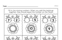 Free 1.OA.D.8 Common Core PDF Math Worksheets Worksheet #97