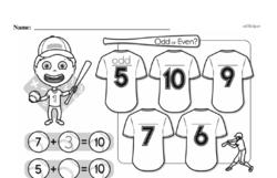 Free 1.OA.D.8 Common Core PDF Math Worksheets Worksheet #49