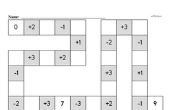Free 1.OA.D.8 Common Core PDF Math Worksheets Worksheet #9