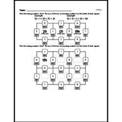 Free 1.OA.D.8 Common Core PDF Math Worksheets Worksheet #10