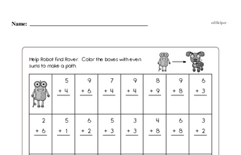 Addition - Addition within 20 Mixed Math PDF Workbook for First Graders
