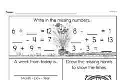 Free 1.OA.A.1 Common Core PDF Math Worksheets Worksheet #281