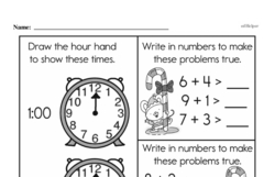 Free 1.OA.A.1 Common Core PDF Math Worksheets Worksheet #229