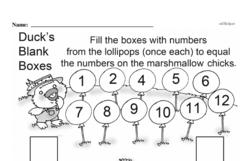 Free 1.OA.A.1 Common Core PDF Math Worksheets Worksheet #217