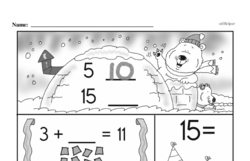 Free 1.OA.A.1 Common Core PDF Math Worksheets Worksheet #225