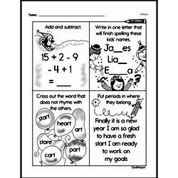 Free 1.OA.A.1 Common Core PDF Math Worksheets Worksheet #267