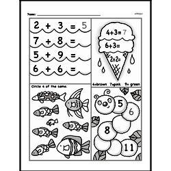 Free 1.OA.A.1 Common Core PDF Math Worksheets Worksheet #243