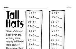 Free 1.OA.A.1 Common Core PDF Math Worksheets Worksheet #257