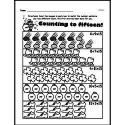 Free 1.OA.A.1 Common Core PDF Math Worksheets Worksheet #214