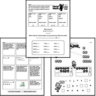 Addition - Addition within 5 Workbook (all teacher worksheets - large PDF)