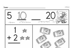 Free 1.OA.A.1 Common Core PDF Math Worksheets Worksheet #288