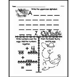 First Grade Addition Worksheets Worksheet #100