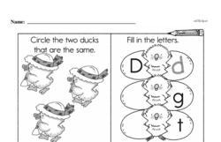 First Grade Addition Worksheets Worksheet #158