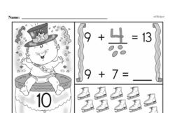 First Grade Addition Worksheets Worksheet #7