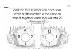 First Grade Addition Worksheets Worksheet #1