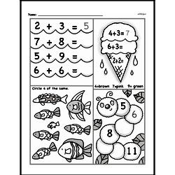 First Grade Addition Worksheets Worksheet #78