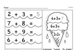 Free First Grade Addition PDF Worksheets Worksheet #77