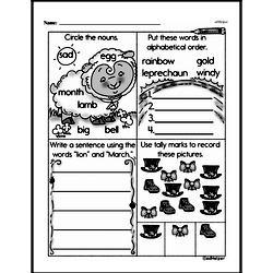 First Grade Addition Worksheets Worksheet #160