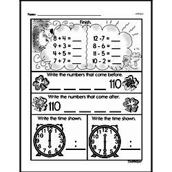 First Grade Addition Worksheets Worksheet #12