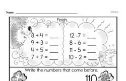 Free First Grade Addition PDF Worksheets Worksheet #11