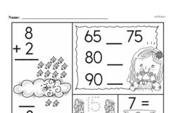 First Grade Addition Worksheets Worksheet #49