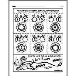 Free First Grade Addition PDF Worksheets Worksheet #117