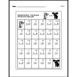 Two digit addition maze.
