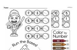 First Grade Addition Worksheets Worksheet #76
