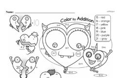 Free First Grade Addition PDF Worksheets Worksheet #136