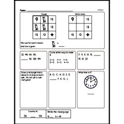 First Grade Addition Worksheets Worksheet #34