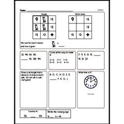Addition Worksheets - Free Printable Math PDFs Worksheet #495