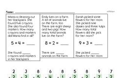 First Grade Addition Worksheets Worksheet #36