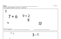First Grade Addition Worksheets Worksheet #39
