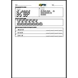 1st Quarter Math Assessment for First Grade - Few Mixed Review Math Problem Pages