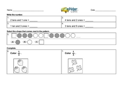 3rd Quarter Math Assessment for First Grade - Few Mixed Review Math Problem Pages