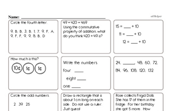 photograph about First Grade Math Assessment Printable called Totally free Initially Quality Examination PDF Worksheets