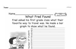 Free First Grade Data PDF Worksheets Worksheet #6