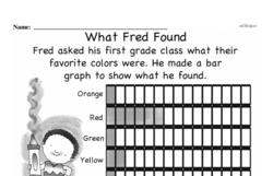Free First Grade Data PDF Worksheets Worksheet #5